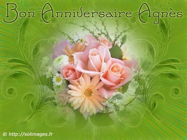 Cartes Virtuelles Solimages Bon Anniversaire Agnes