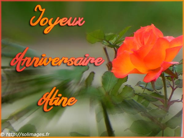 Cartes Virtuelles Solimages Bon Anniversaire Aline