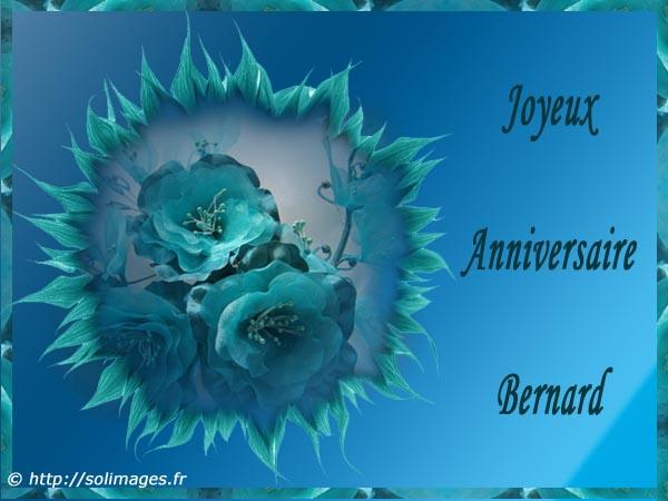 Cartes Virtuelles Solimages Bon Anniversaire Bernard