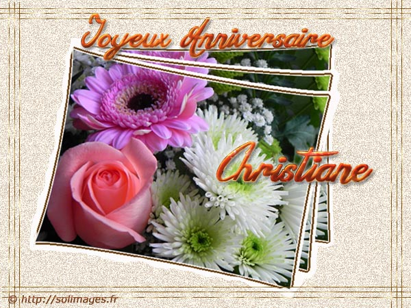 Cartes Virtuelles Solimages Bon Anniversaire Christiane