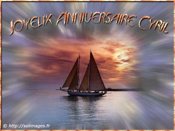 Cartes Virtuelles Solimages Bon Anniversaire Cyril