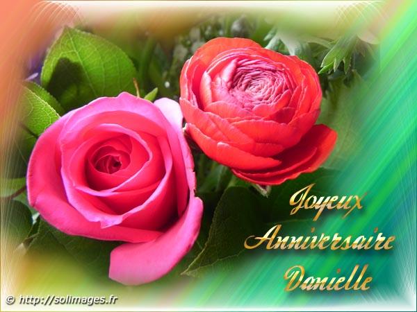 Cartes Virtuelles Solimages Bon Anniversaire Danielle