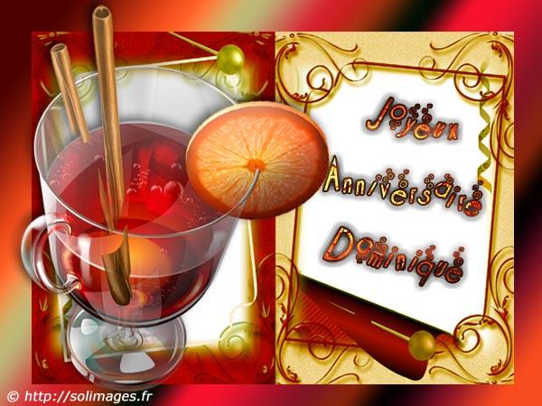 Carte Virtuelle Bonne Fete Dominique.Cartes Virtuelles Solimages Bon Anniversaire Dominique