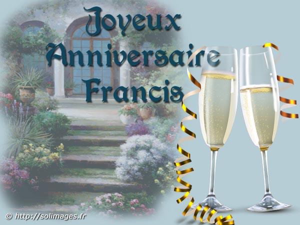 Cartes Virtuelles Solimages Bon Anniversaire Francis