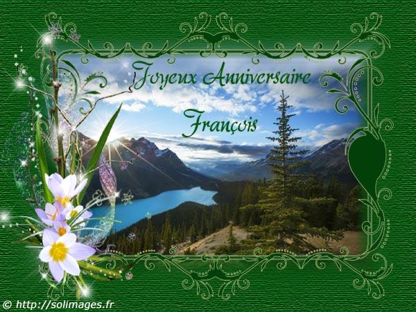 Cartes Virtuelles Solimages Bon Anniversaire Francois