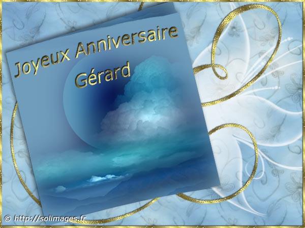 Cartes Virtuelles Solimages Bon Anniversaire Gerard