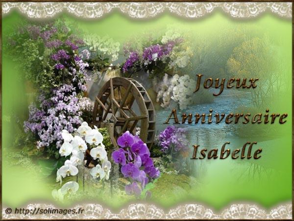 Cartes Virtuelles Solimages Bon Anniversaire Isabelle