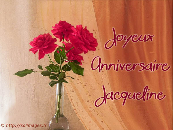 Cartes Virtuelles Solimages Bon Anniversaire Jacqueline
