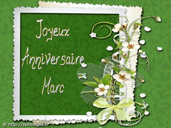 Cartes Virtuelles Solimages Bon Anniversaire Marc
