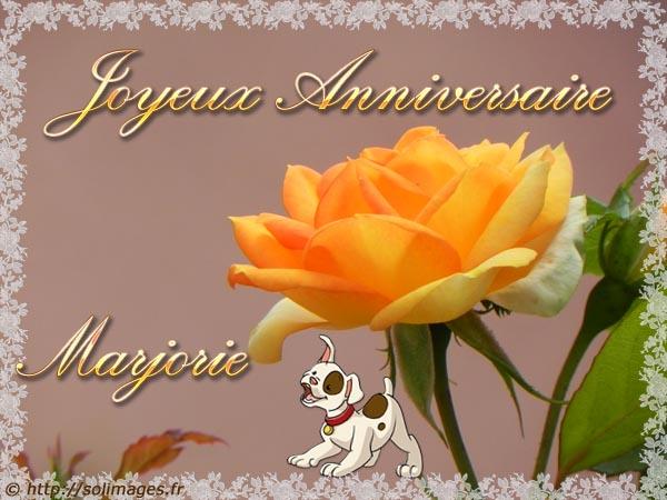 Souvent Cartes virtuelles solimages Bon Anniversaire Marjorie JF22