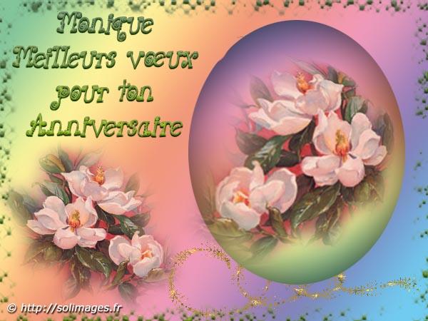 Cartes Virtuelles Solimages Bon Anniversaire Monique