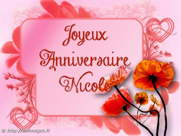 Cartes Virtuelles Solimages Bon Anniversaire Nicole