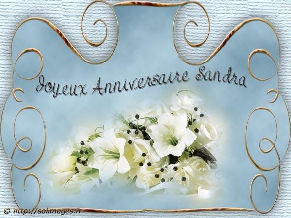 Cartes Virtuelles Solimages Bon Anniversaire Sandra