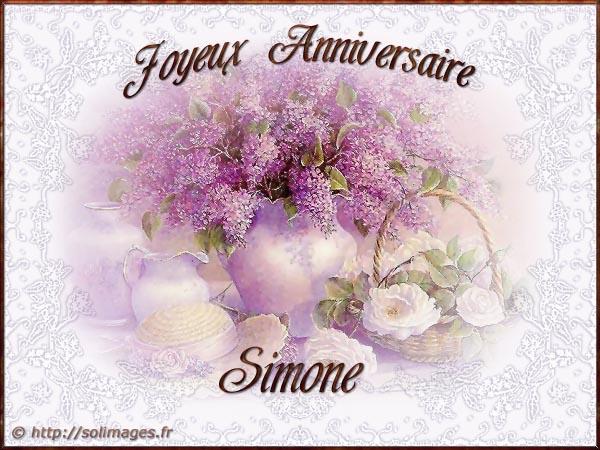Cartes Virtuelles Solimages Bon Anniversaire Simone
