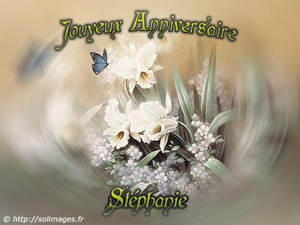 Cartes Virtuelles Solimages Bon Anniversaire Stéphanie