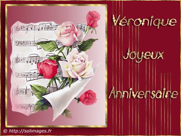 Cartes Virtuelles Solimages Bon Anniversaire Veronique
