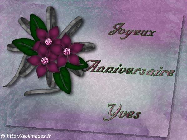 Cartes Virtuelles Solimages Bon Anniversaire Yves