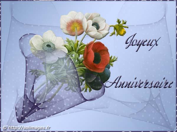 Souvent Cartes virtuelles bon anniversaire bouquet JF22
