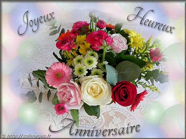 bouquet de fleurs virtuel anniversaire