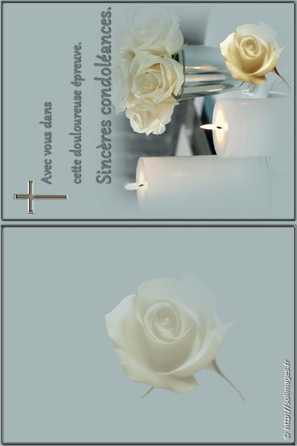 Carte A Imprimer Sinceres Condoleances