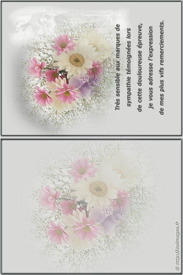 Assez Carte à imprimer merci condoléances NT25
