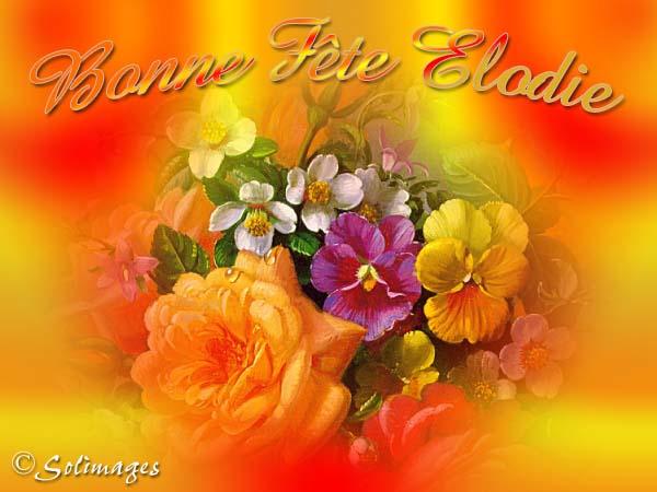 Bon Samedi Elodie