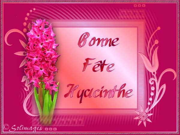 BON JEUDI A TOUS.... Hyacinthe