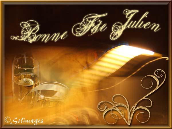 Carte Bonne Fete Julien.Cartes Virtuelles Solimages Bonne Fete Julien