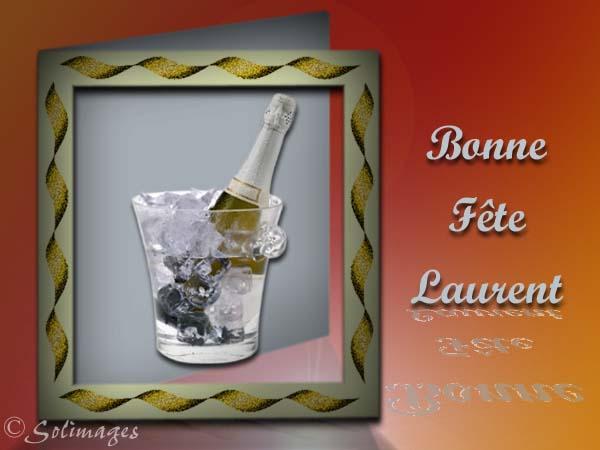 Carte Bonne Fete Laurent.Cartes Virtuelles Solimages Bonne Fete Laurent