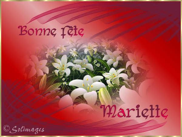 BON JEUDI Mariette