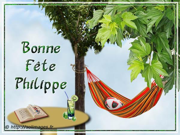 Cartes virtuelles solimages Bonne fête Philippe