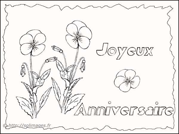 Coloriages cartes joyeux anniversaire - Joyeux anniversaire a colorier ...
