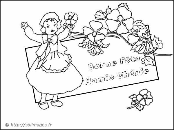 Carte Bonne Fete Mamie A Imprimer.Carte Coloriage Bonne Fete Mamie