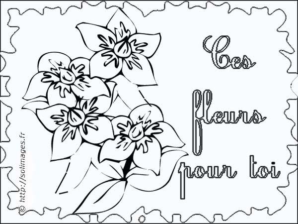 Coloriage Carte Fleur